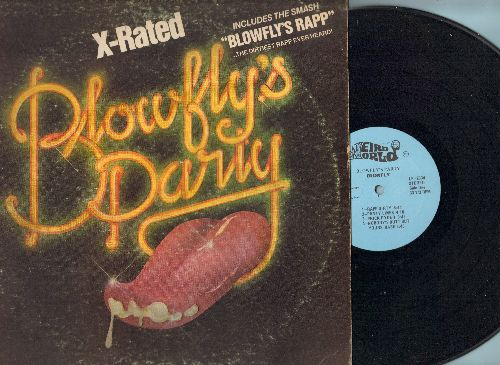 Blowfly - Blowfly's Party: Blowfly's Rapp, Rapp Dirty, Panty Lines, Prick Ryder, Who Did I eat Last Night? Rated X (vinyl STEREO LP record) - VG7/VG7 - LP Records