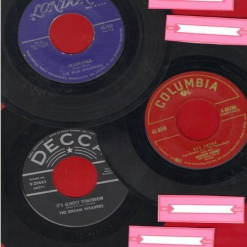 Blue Diamonds, Rosemary Clooney,Dream Weavers - Set of 3 Original 45s. Hits include Ramona, Hey There, It's Almost Tomorrow. Shipped in white paper sleeves with 4 blank juke box labels. - EX8/ - 45 rpm Records