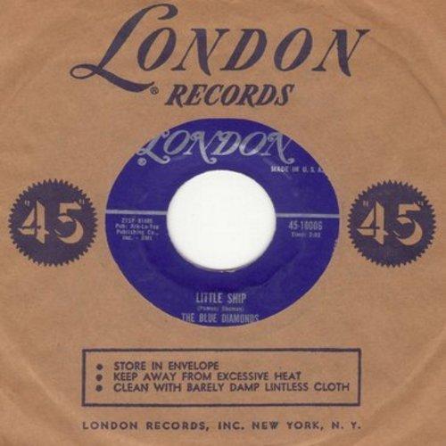 Blue Diamonds - Little Ship/Carmen My Love (with vintage London company sleeve) - M10/ - 45 rpm Records