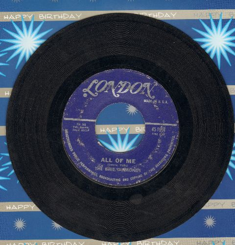 Blue Diamonds - All Of Me/Ramona (FANTASTIC Rock & Roll versions of the Pop Standards)  - G5/ - 45 rpm Records