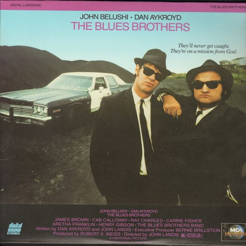 Blues Brothers, The - The Blues Brothers - The 1980 Cult Classic starring John Belushi and Dan Aycroyd on 2 Laser Discs  (These are LASER DISCS, not any other kind of media!) - NM9/EX8 - Laser Discs