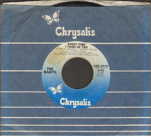 Babys - Every Time I Think Of You/Head First (with Chrysalis company sleeve) - VG7/ - 45 rpm Records