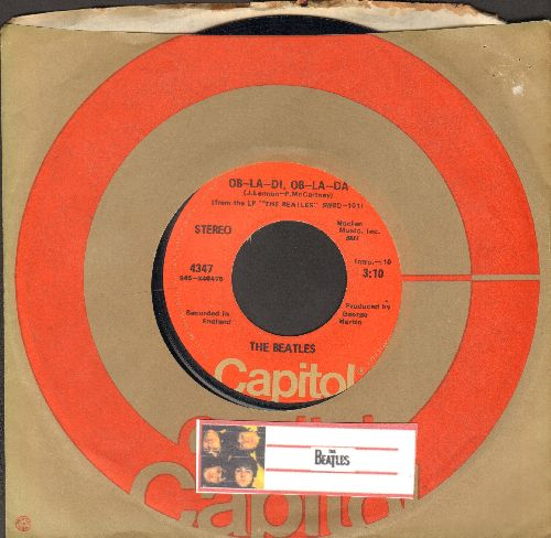 Beatles - Ob-La-Di, Ob-La-Da/Julia (with Capitol company sleeve) - EX8/ - 45 rpm Records