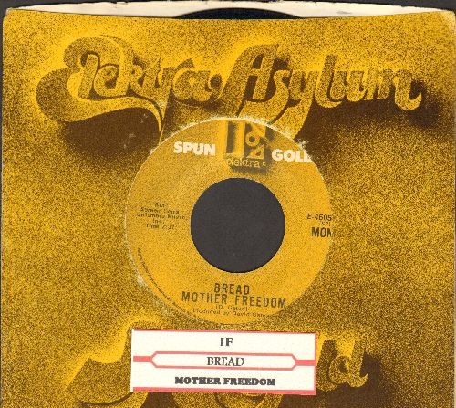 Bread - If/Mother Freedom (double-hit re-issue with company sleeve) - EX8/ - 45 rpm Records