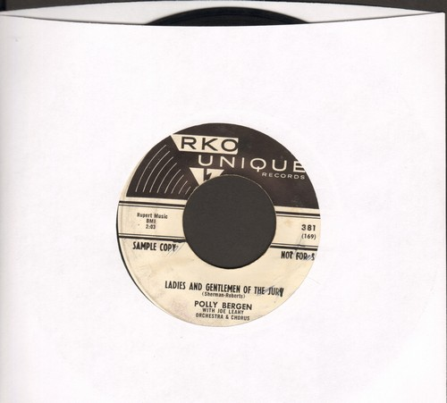 Bergen, Polly - Ladies And Gentlemen Of The Jury (Let My Man Go)/Dream Love (DJ advance copy) - EX8/ - 45 rpm Records