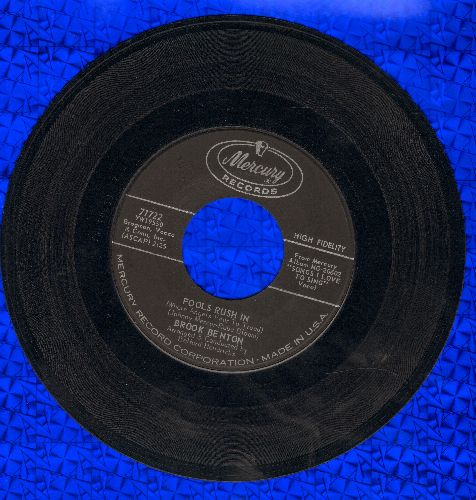 Benton, Brook - Fools Rush In/SomedayYou'll Want Me To Want You - EX8/ - 45 rpm Records