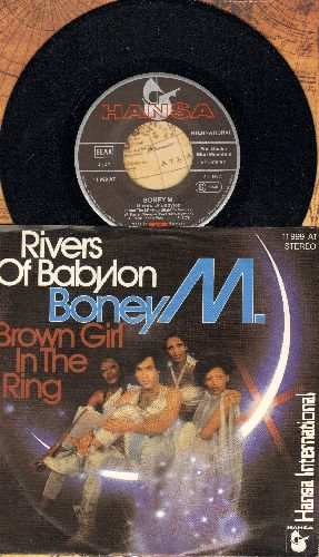 Boney M - Rivers Of Babylon/Brown Girl In The Ring (German Pressing with picture sleeve) - NM9/NM9 - 45 rpm Records
