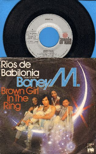 Boney M - Rios De Babilonia (Rivers Of Babylon)/Brown Girl In The Ring (Spanish Pressing with picture sleeve) - NM9/VG7 - 45 rpm Records