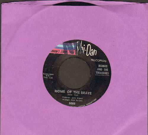 Bonnie & The Treasures - Home Of The Brave/Our Song (minor wol) - NM9/ - 45 rpm Records