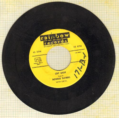 Bonnie Sisters - Cry Baby (FANTASTIC up-beat Vintage Rock & Roll Girl Sound!)/Broken (wol) - EX8/ - 45 rpm Records
