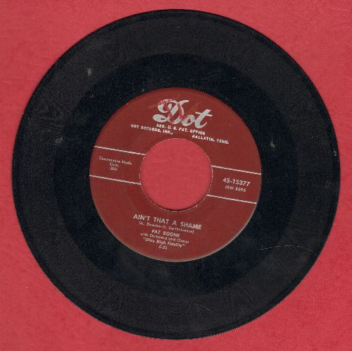 Boone, Pat - Ain't That A Shame/Tennessee Saturday Night (burgundy label) - VG7/ - 45 rpm Records