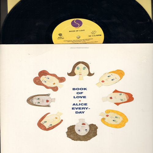 Book Of Love - Alice Everyday (3 Extended Dance Club Versions)/Candy Carol/With A Little Love (12 inch Maxi Single with picture cover) - NM9/NM9 - Maxi Singles