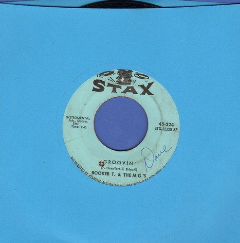 Booker T. & The M.G.'s - Groovin'/Slim Jenkin's Place (bb, wol) - EX8/ - 45 rpm Records