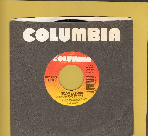 Bolton, Michael - Georgia On My Mind/Take A Look At My Face (with Columbia company sleeve) - NM9/ - 45 rpm Records