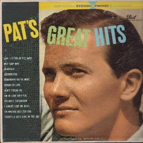 Boone, Pat - Pat's Great Hits: Bernardine, Friendly Persuasion, Don't Forbid Me, I Almost Lost My Mind, Love Letters In The Sand, Anastasia (vinyl STEREO LP record) - EX8/VG7 - LP Records