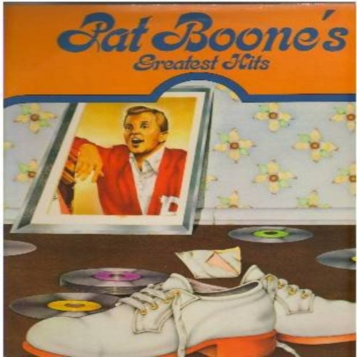Boone, Pat - Pat Boone's Greatest Hits: Friendly Persuasion, Bernardine, Don't Forbid Me, Moon River, Laura, Speedy Gonzales, April Love, Loco-Motion (2 vinyl LP record set, gate-fold cover) - NM9/EX8 - LP Records