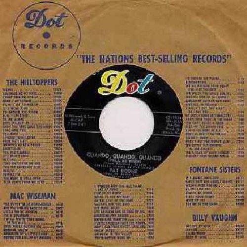 Boone, Pat - Quando, Quando, Quando/Willing And Eager (with Dot company sleeve) - NM9/ - 45 rpm Records