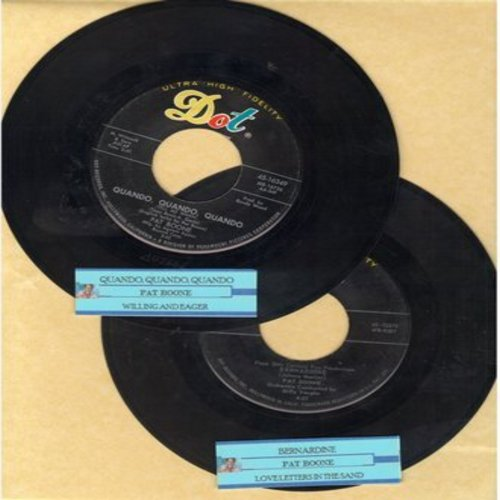 Boone, Pat - 2 for 1 Special: Bernardine/Quando, Quando, Quando (2 vintage first issue 45rpm records with juke box labels for the price of 1!) - EX8/ - 45 rpm Records