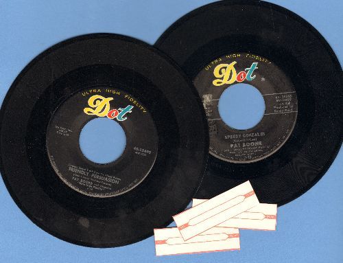 Boone, Pat - 2 for 1 Special: Speedy Gonzales/Friendly Persuasion (2 vintage first issue 45rpm records with juke box labels for the price of 1!) - EX8/ - 45 rpm Records