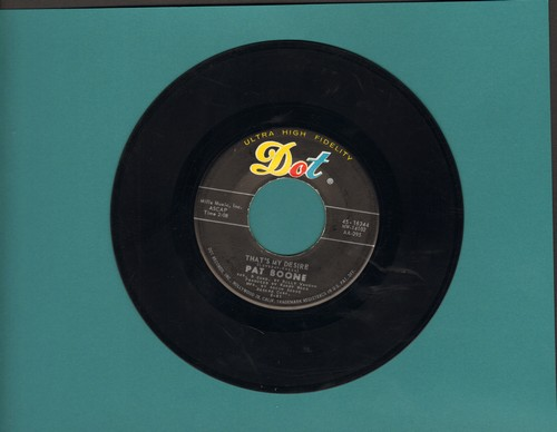 Boone, Pat - That's My Desire (VERY Nice version of the classic love ballad!)/Big Cold Wind  - EX8/ - 45 rpm Records