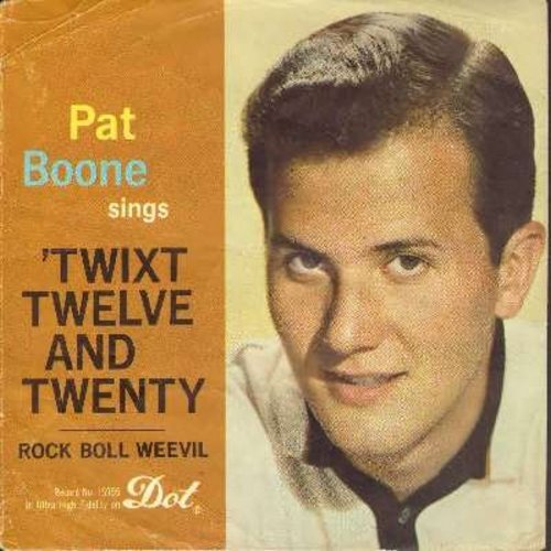 Boone, Pat - Rock-Boll-Weevil/Twixt Twelve And Twenty (with picture sleeve) - EX8/VG7 - 45 rpm Records