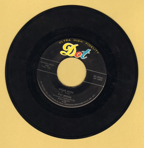Boone, Pat - Sugar Moon/Cherie, I Love You - EX8/ - 45 rpm Records