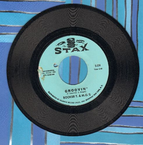 Booker T. & The M.G.'s - Groovin'/Slim Jenkin's Place (bb) - EX8/ - 45 rpm Records