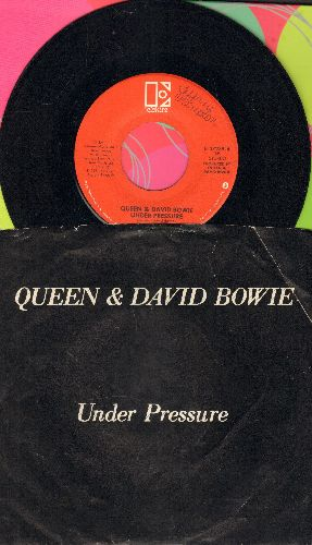 Queen & David Bowie - Under Pressure/Soul Brother (with picture sleeve) - VG7/VG7 - 45 rpm Records