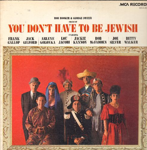 Booker, Bob & George Foster - You Don't Have To Be Jewish - featuring Frank Gallop, Jack Gilford, Bob McFadden, Betty Walker, others (vinyl MONO LP record, re-issue of HILARIOUS vintage comedy recordings) - NM9/NM9 - LP Records
