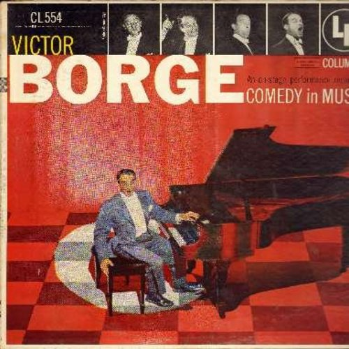 Borge, Victor - Victor Borge - An on-stage performance recording of Comedy in Music (vinyl LP record - red label, 6 white eyes first issue) - EX8/EX8 - LP Records