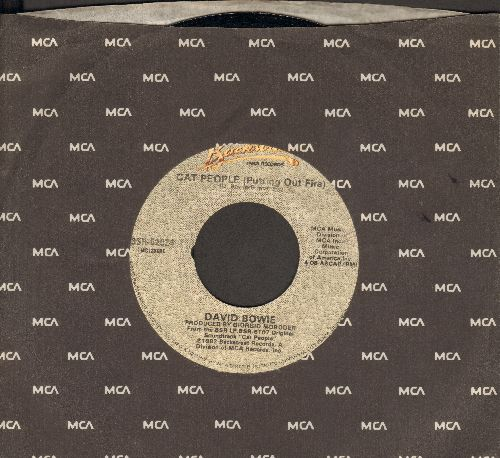 Bowie, David - Cat People (Putting Out Fire)/Paula's Theme (Jogging Chase) (with MCA company sleeve) - NM9/ - 45 rpm Records