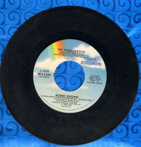 Brown, Bobby - My Prerogative/My Prerogative (Instrumental) - VG7/ - 45 rpm Records