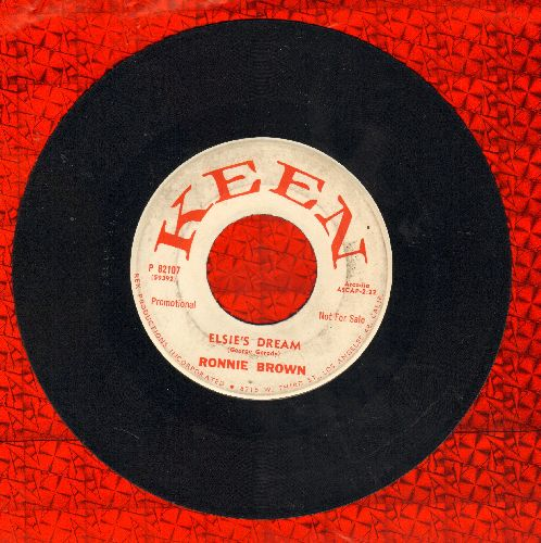 Brown, Ronnie - Elsie's Dream/When It's Springtime In The Rockies (DJ advance pressing) - VG7/ - 45 rpm Records