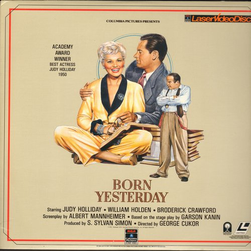 Born Yesterday - Born Yesterday - Laser Disc version of Judy Holiday's Oscar Winning Comedy (This is a LASER DISC, not any other kind of media!) - NM9/NM9 - Laser Discs