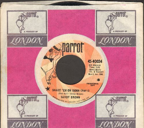 Brown, Savoy - Shake'em On Down (Parts 1 + 2) (DJ advance pressing with Parrot company sleeve, bb) - EX8/ - 45 rpm Records