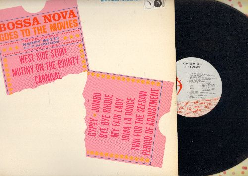 Betts, Harry & The Bill Brown Singers - Bossa Nova Goes To The Movies: You'll Never Get Away From Me, A Lot Of Livin' To Do, On The Street Where You Live, Tonight (vinyl MONO LP record) - EX8/NM9 - LP Records