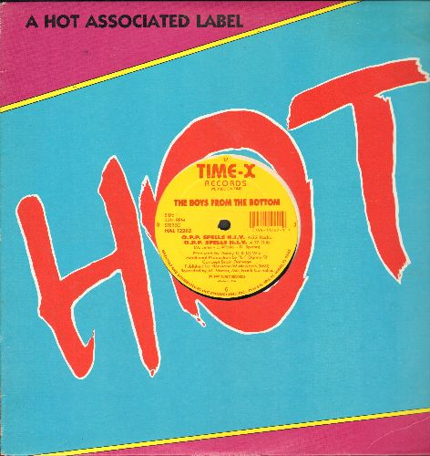 Boys From The Bottom - O.P.P Spells H.I.V. (4 Extended Dance Club Tracks on 12 inch vinyl Maxi Single with original Hot Associate Label company cover) - NM9/ - Maxi Singles