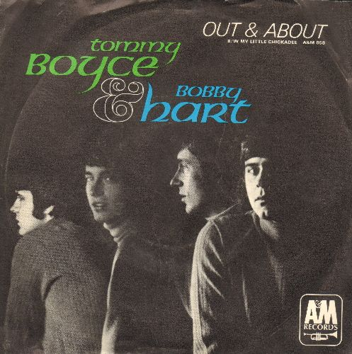 Boyce & Hart - Out & About/My Little Chickadee (with picture sleeve) - EX8/EX8 - 45 rpm Records