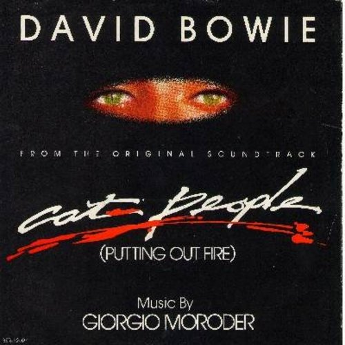 Bowie, David - Cat People (Putting Out Fire)/Paula's Theme (Jogging Chase) (with picture sleeve) - NM9/EX8 - 45 rpm Records