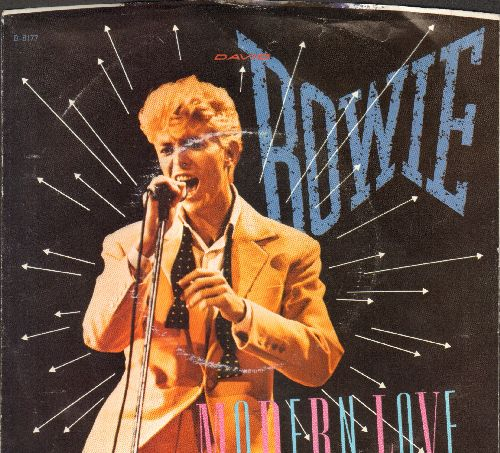 Bowie, David - Modern Love (LIVE and Studio Version) (with picture sleeve) - VG7/VG7 - 45 rpm Records