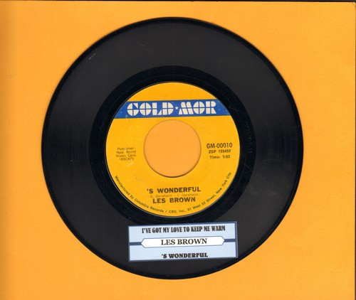 Brown, Les & His Orchestra - S Wonderful (vocal version)/I've Got My Love To Keep Me Warm (re-issue of vintage recordings, with juke box label) - NM9/ - 45 rpm Records
