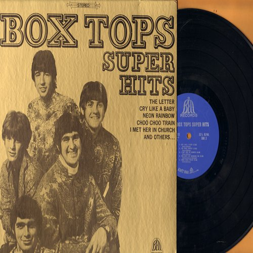 Box Tops - Super Hits: The Letter, Cry Like A Baby, I'm Your Puppet, You Keep Me Hanging On, Neon Rainbow (vinyl STEREO LP record) - EX8/VG7 - LP Records