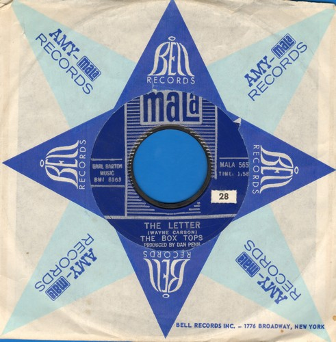 Box Tops - The Letter/Happy Times - EX8/ - 45 rpm Records