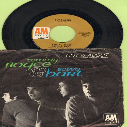 Boyce & Hart - Out & About/My Little Chickadee (with picture sleeve) - EX8/VG7 - 45 rpm Records