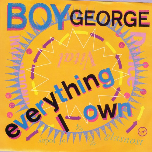 Boy George - Everything I Own (double-A-sided DJ advance pressing with picture sleeve) - NM9/NM9 - 45 rpm Records