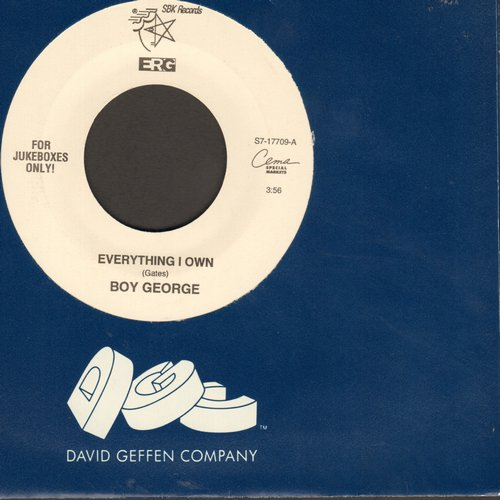 Boy George - Everything I Own/Miss Me Blind - M10/ - 45 rpm Records