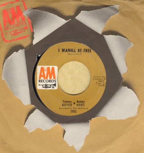 Boyce & Hart - I Wanna Be Free/L.U.V. (with A&M company sleeve) - NM9/ - 45 rpm Records