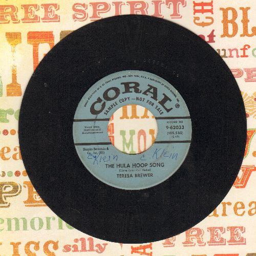 Brewer, Teresa - The Hula Hoop Song/So Shy (DJ advance copy, minor wol) - VG7/ - 45 rpm Records