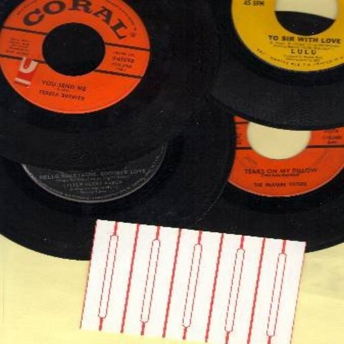 Brewer, Teresa, Lulu, Little Peggy March, McGuire Sisters - Vintage Girl-Sound 4-Pack: First issue 45s, all in very good or better condition. Hits include You Send Me, To Sir With Love, Hello Heartache Goodbye Love, Tears On My Pillow. Shipped in plain wh