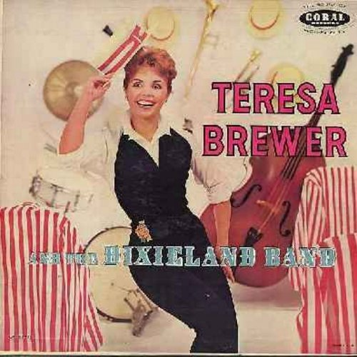 Brewer, Teresa - Teresa Brewer & The Dixieland Band: Basin Street Blues, Georgia On My Mind, Mississippi Mud, Bill Bailey Won't You Please Come Home, When It's Sleepytime Down South (vinyl MONO LP record, burgundy label first issue) - EX8/EX8 - LP Records